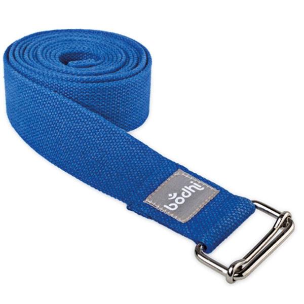 YOGISAN Yogagurt mit Schiebeschnalle Blue, 3,8 cm x 2,5 m
