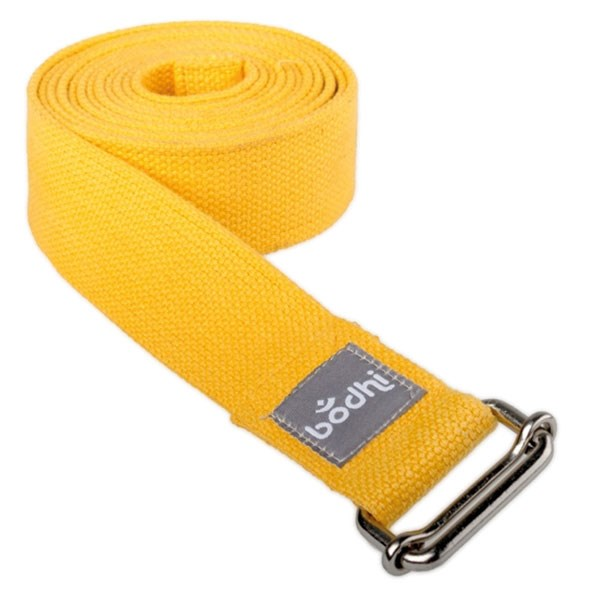 YOGISAN Yogagurt mit Schiebeschnalle Yellow, 3,8 cm x 2,5 m
