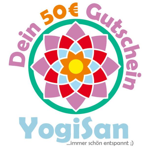 YOGISAN Geschenkgutschein 50 € Geschenkgutschein