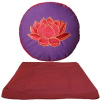 Bild von Meditationsset Lotus Violett-Red