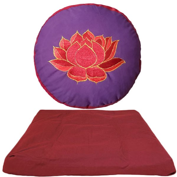 Bild von Meditationsset YogiZen Lotus Violett-Red