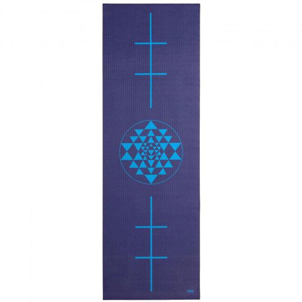 YOGISAN Yogamatte Surya Yantra Alignment Blue